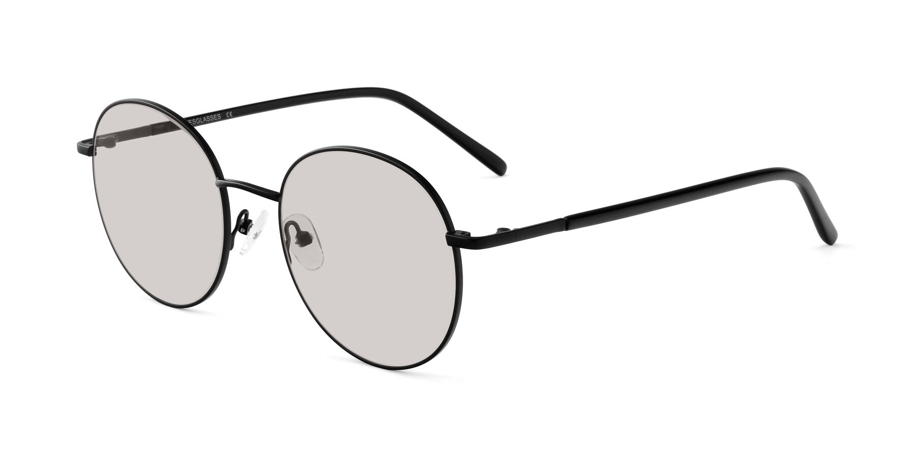 Angle of Cosmos in Black with Light Brown Tinted Lenses