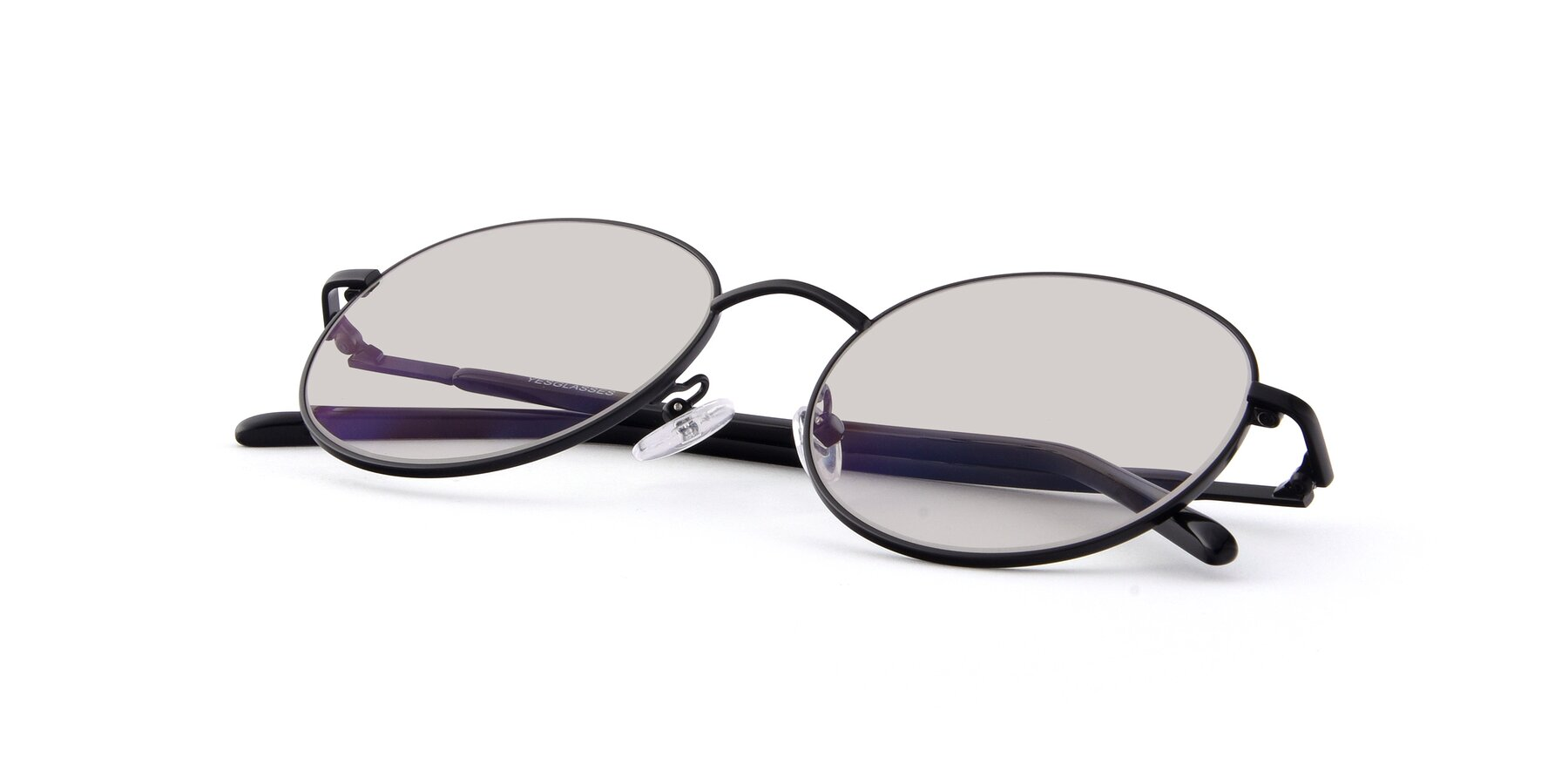 View of Cosmos in Black with Light Brown Tinted Lenses