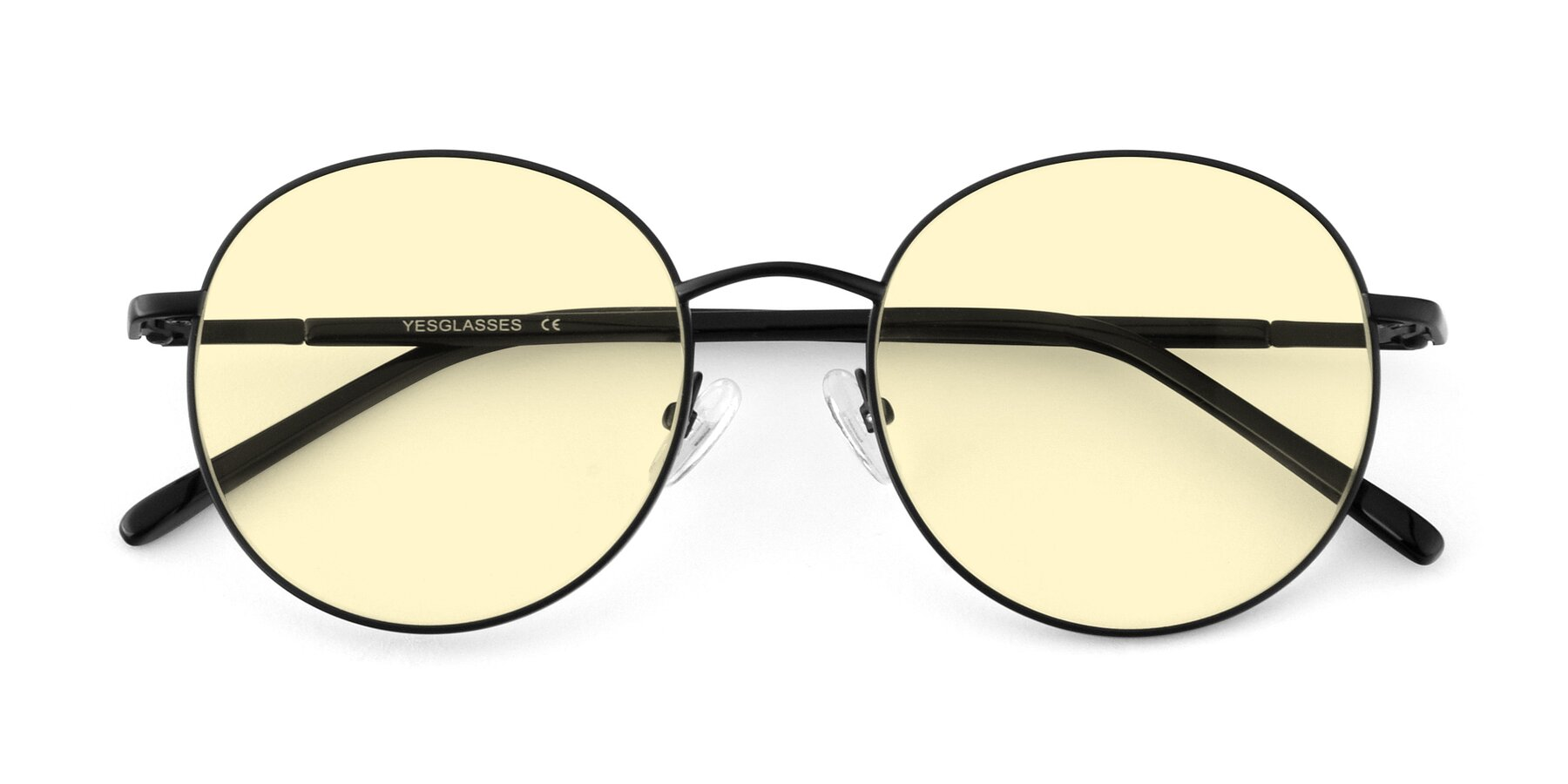 Folded Front of Cosmos in Black with Light Yellow Tinted Lenses