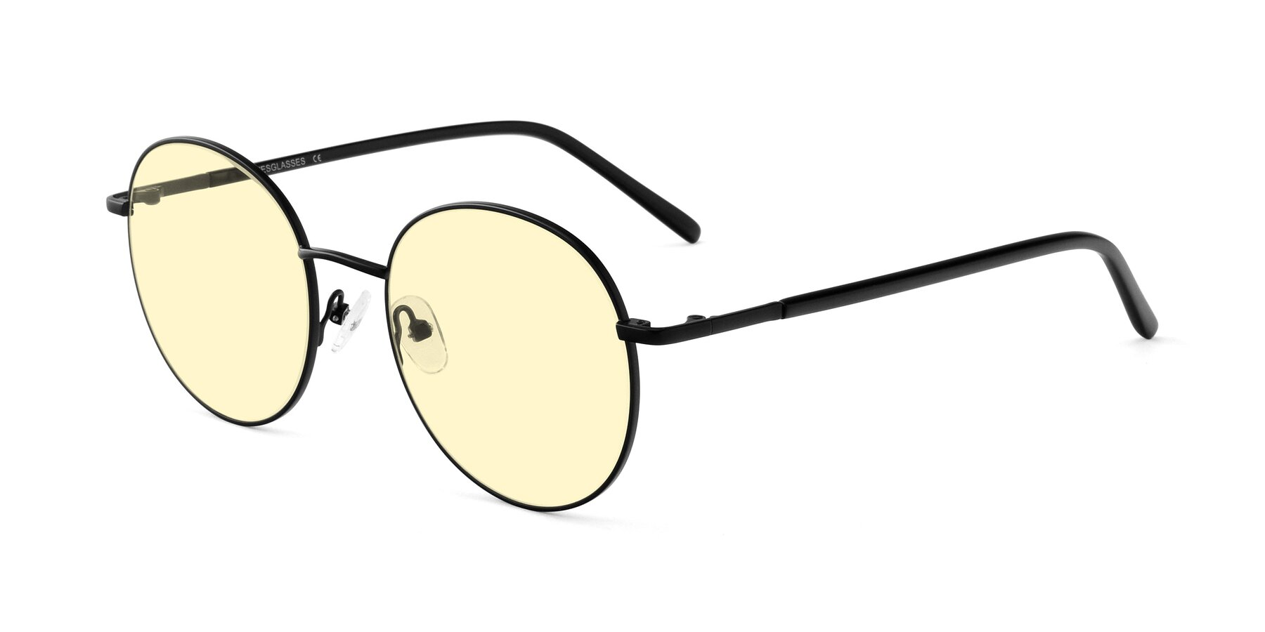 Angle of Cosmos in Black with Light Yellow Tinted Lenses