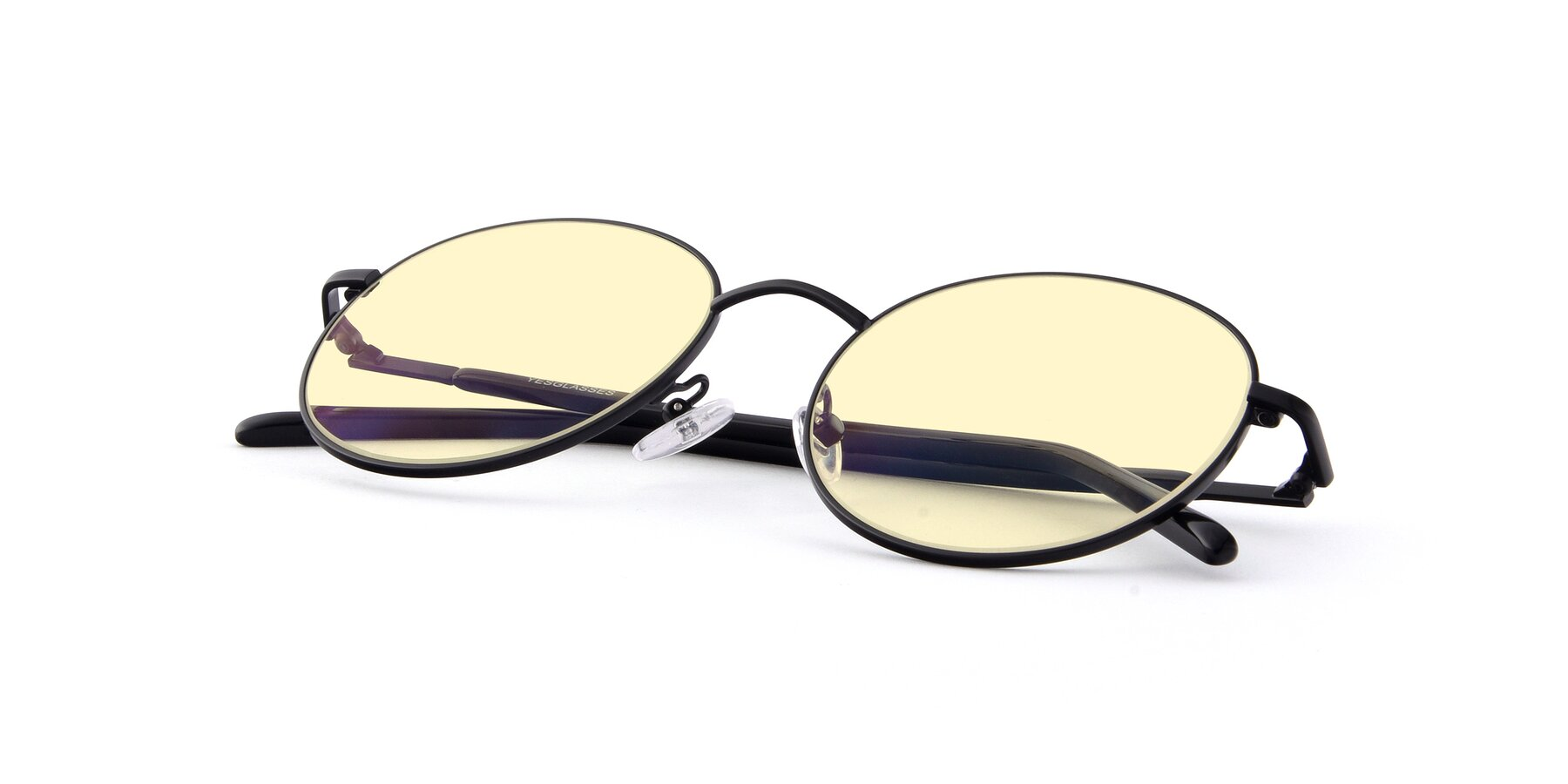 View of Cosmos in Black with Light Yellow Tinted Lenses