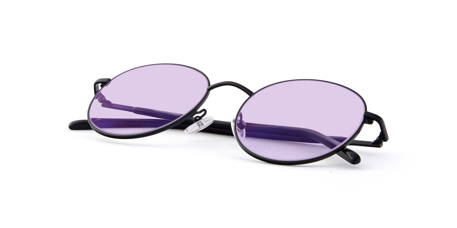 View of Cosmos in Black with Light Purple Tinted Lenses