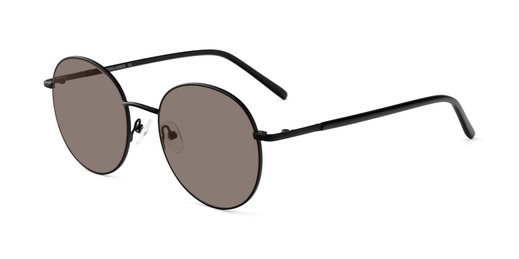Angle of Cosmos in Black with Medium Brown Tinted Lenses