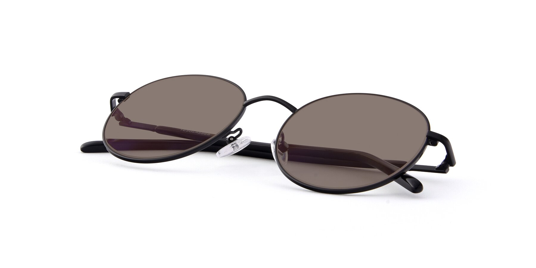 View of Cosmos in Black with Medium Brown Tinted Lenses
