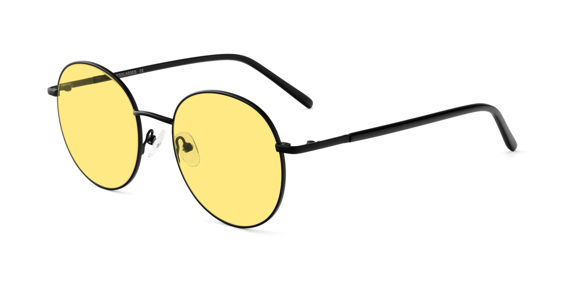 Angle of Cosmos in Black with Medium Yellow Tinted Lenses