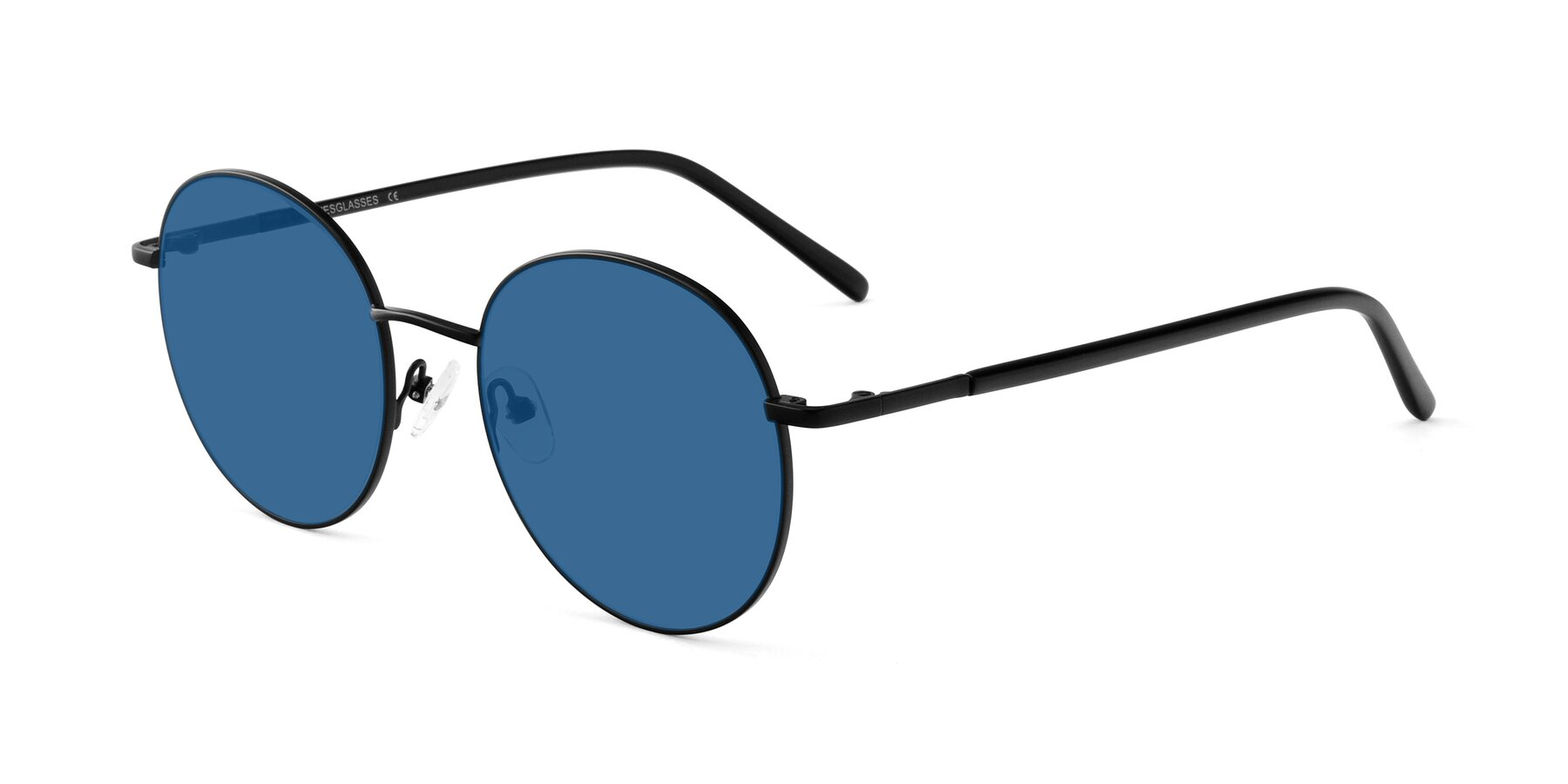 Angle of Cosmos in Black with Blue Tinted Lenses
