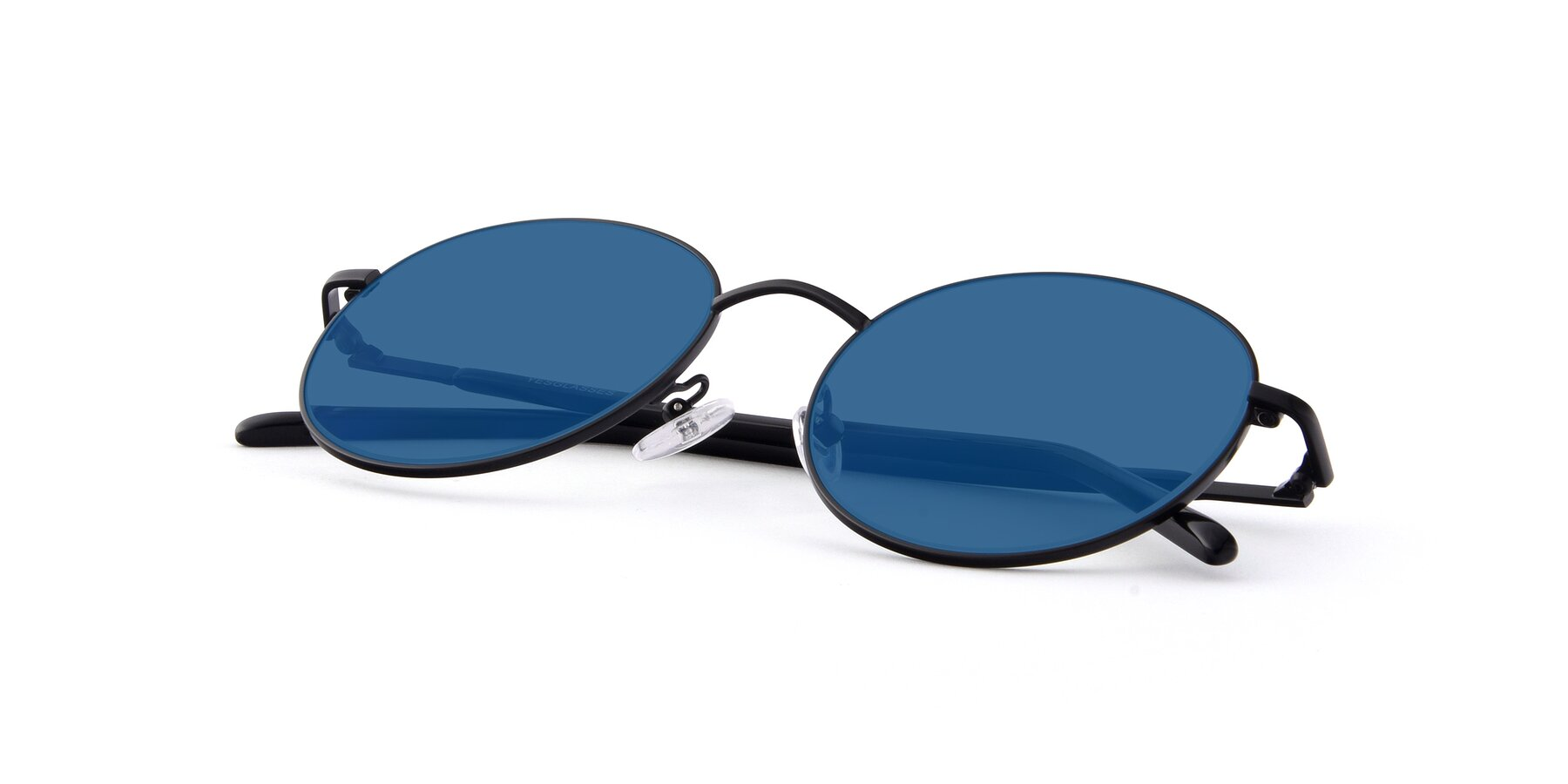View of Cosmos in Black with Blue Tinted Lenses