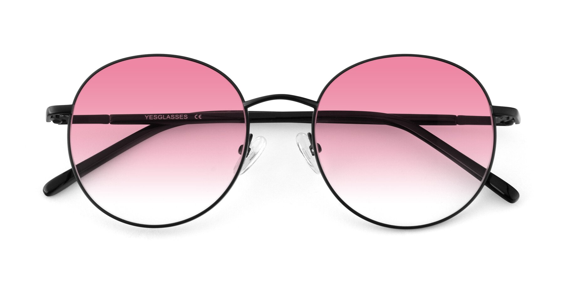 Folded Front of Cosmos in Black with Pink Gradient Lenses