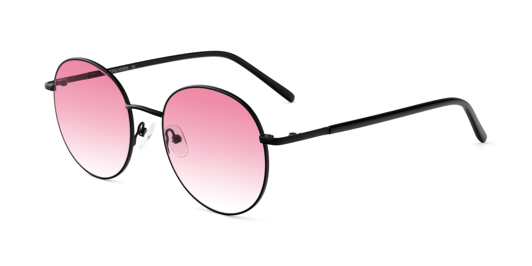 Angle of Cosmos in Black with Pink Gradient Lenses