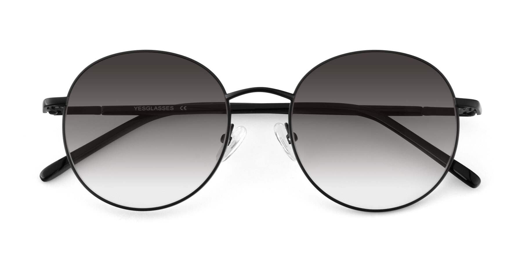 Folded Front of Cosmos in Black with Gray Gradient Lenses