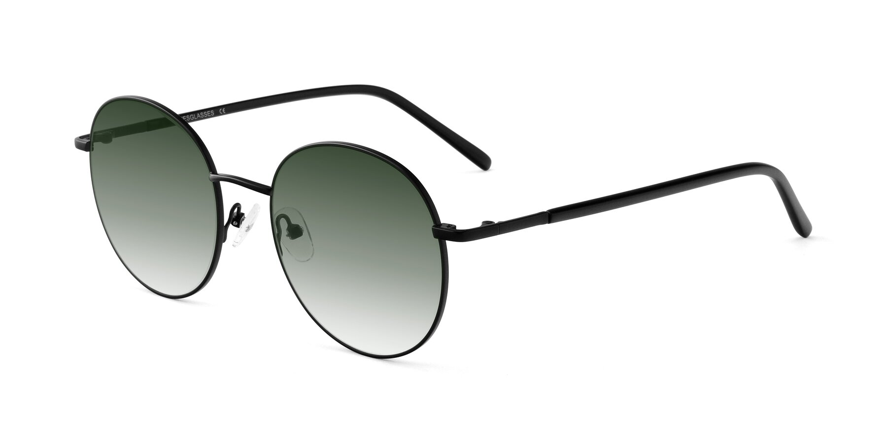 Angle of Cosmos in Black with Green Gradient Lenses