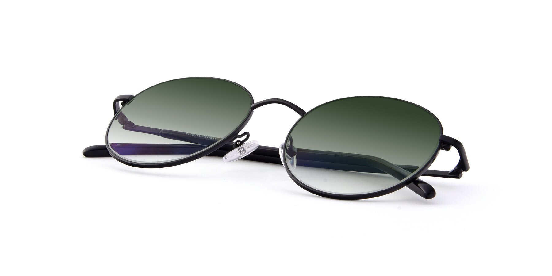 View of Cosmos in Black with Green Gradient Lenses