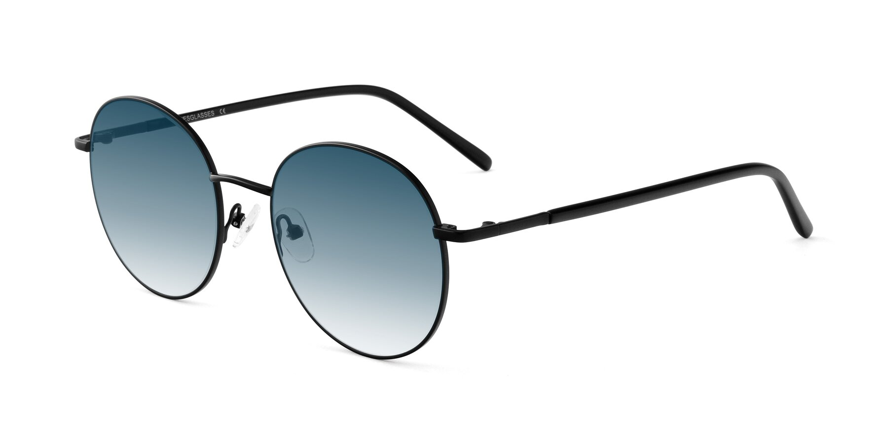 Angle of Cosmos in Black with Blue Gradient Lenses