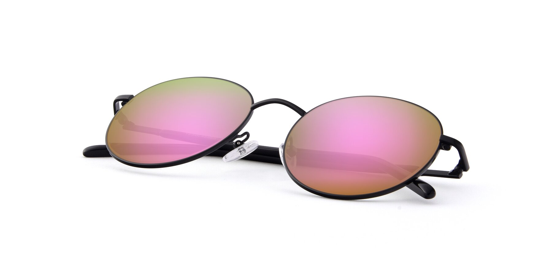 View of Cosmos in Black with Pink Mirrored Lenses