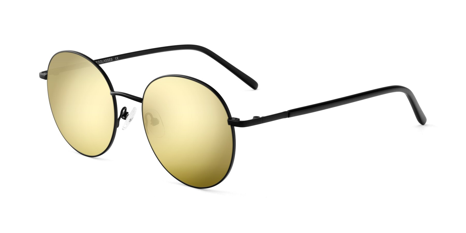 Angle of Cosmos in Black with Gold Mirrored Lenses