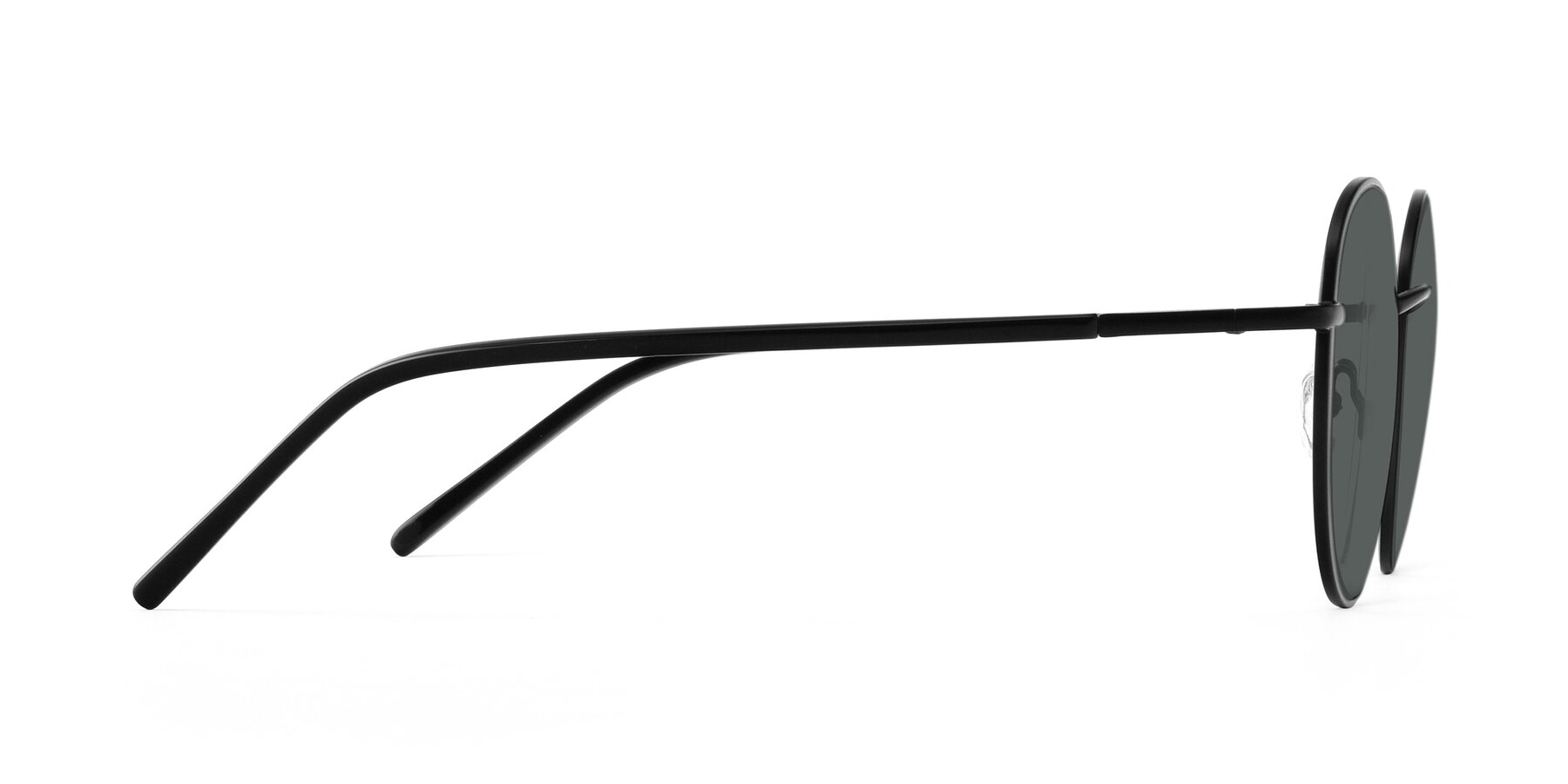 Side of Cosmos in Black with Gray Polarized Lenses