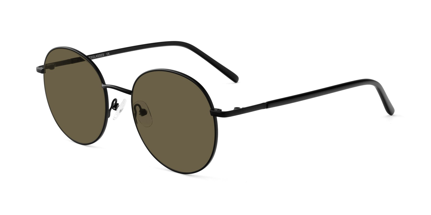 Angle of Cosmos in Black with Brown Polarized Lenses