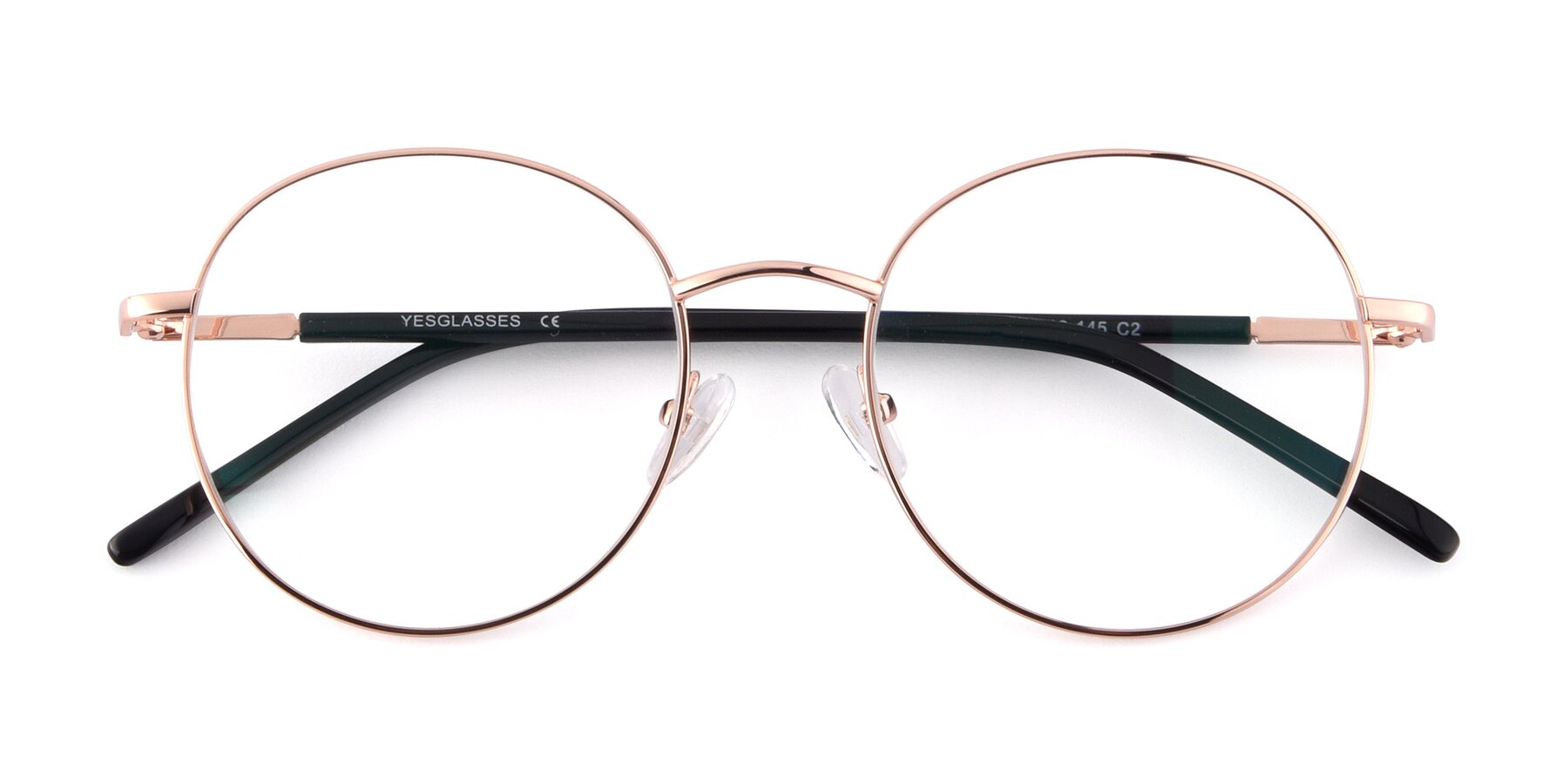 Folded Front of Cosmos in Rose Gold with Clear Blue Light Blocking Lenses
