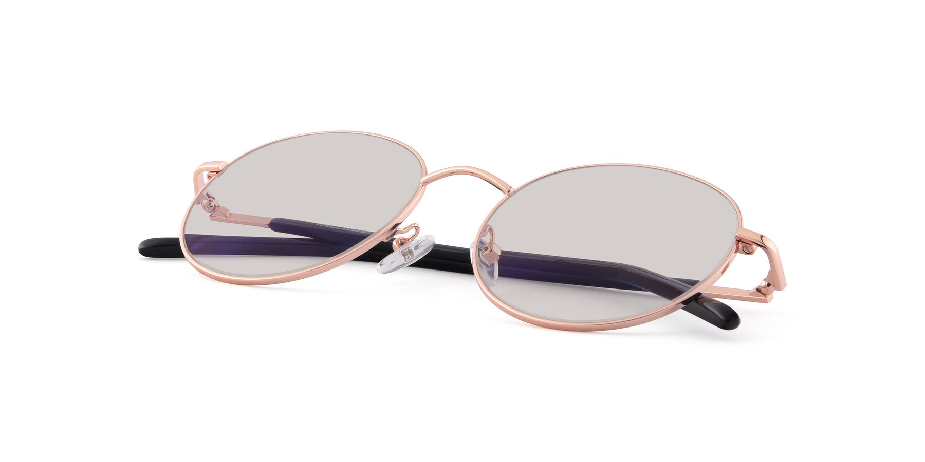 View of Cosmos in Rose Gold with Light Brown Tinted Lenses
