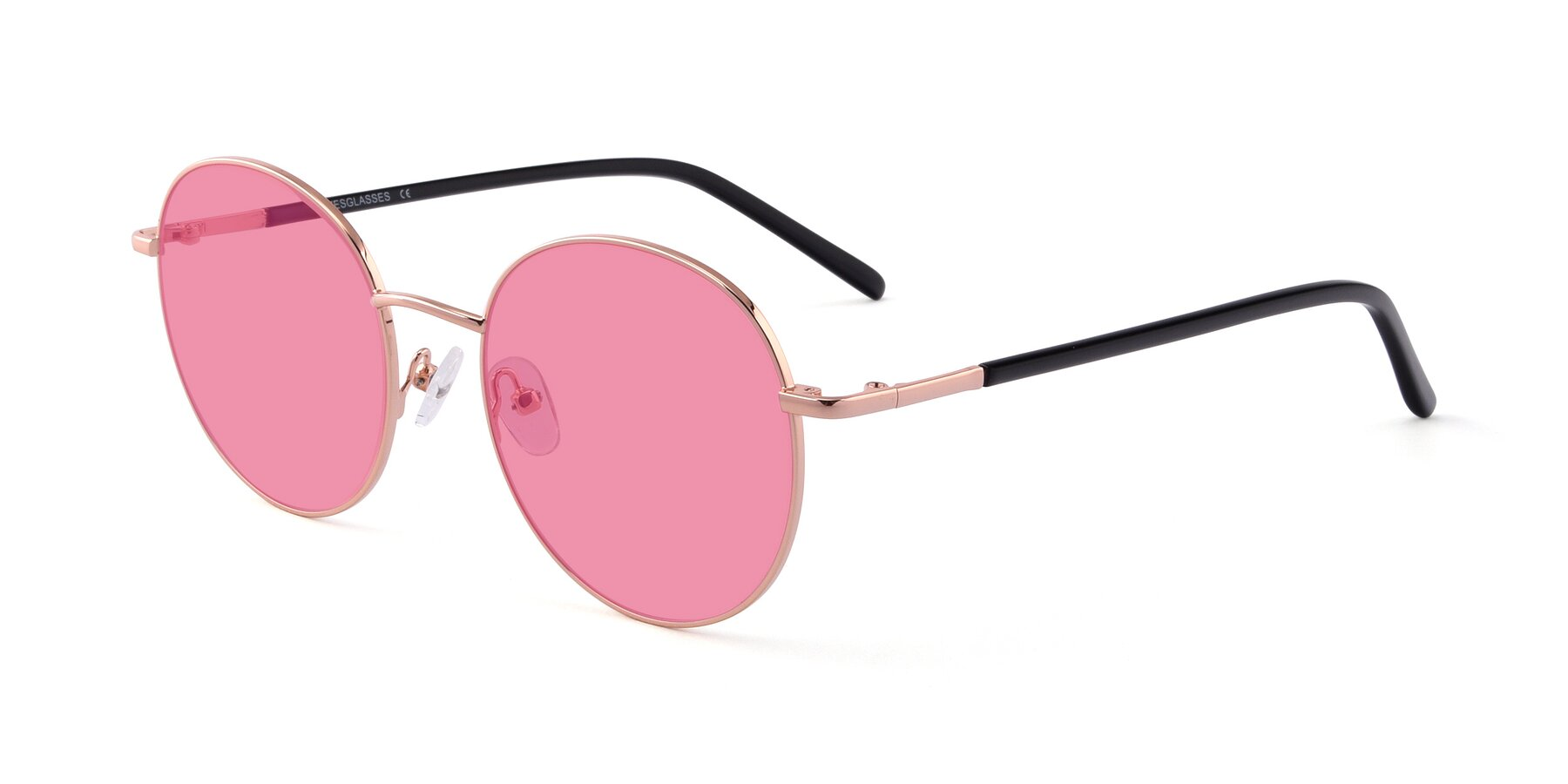 Angle of Cosmos in Rose Gold with Pink Tinted Lenses