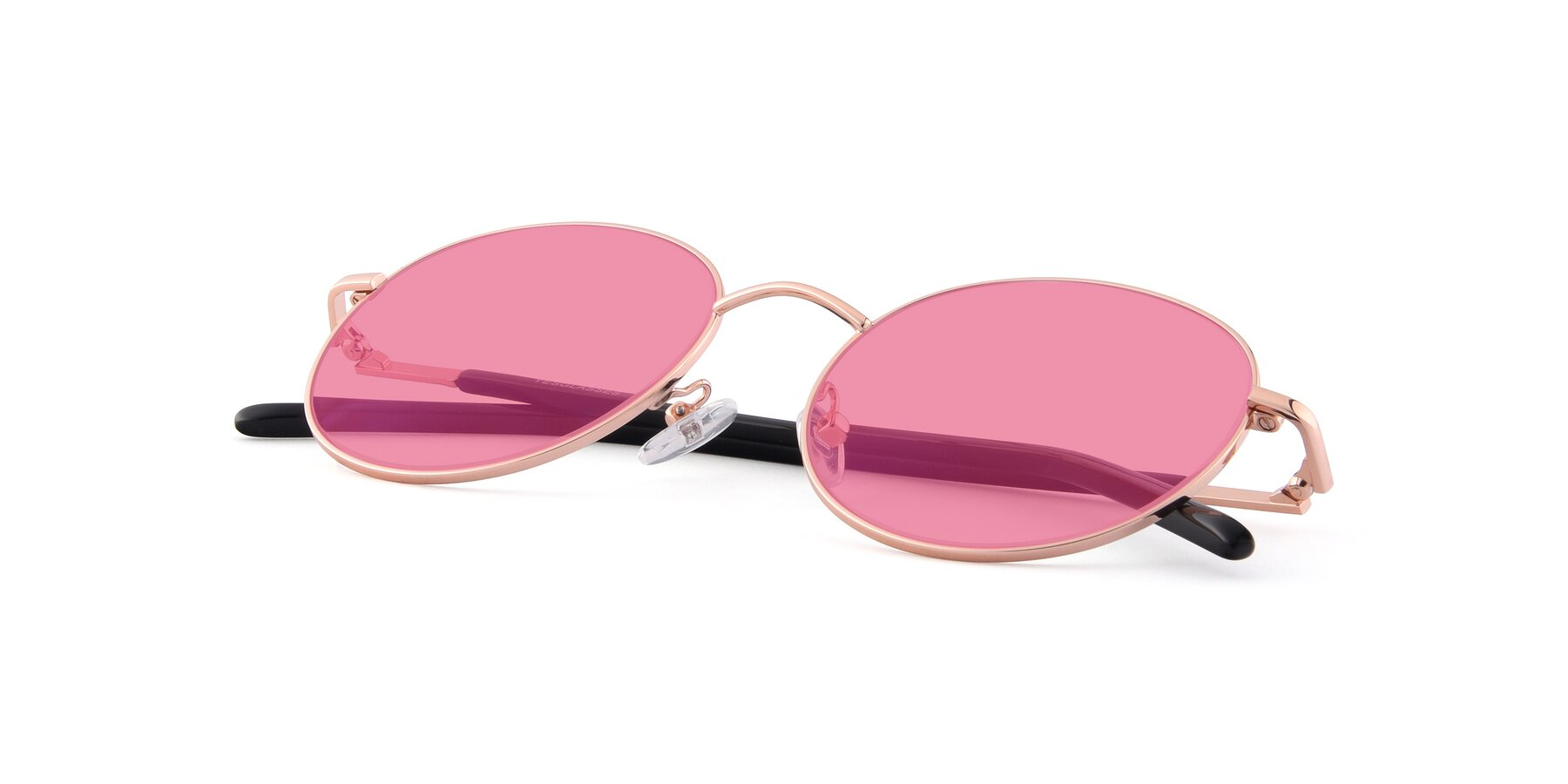 View of Cosmos in Rose Gold with Pink Tinted Lenses
