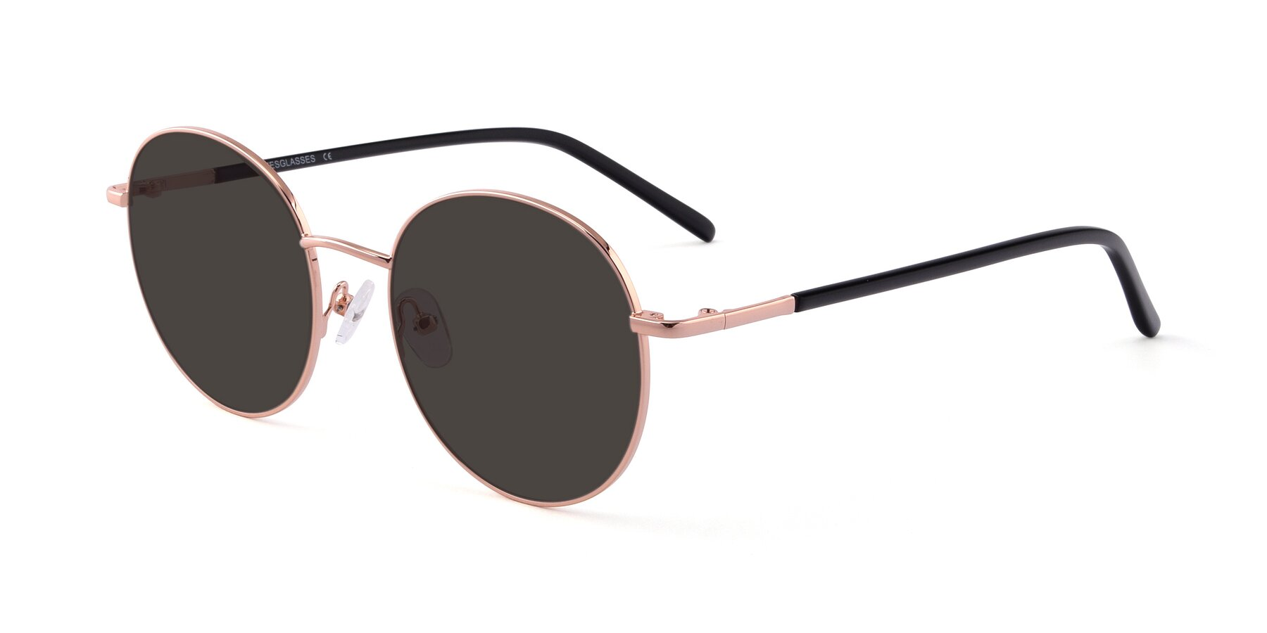 Angle of Cosmos in Rose Gold with Gray Tinted Lenses