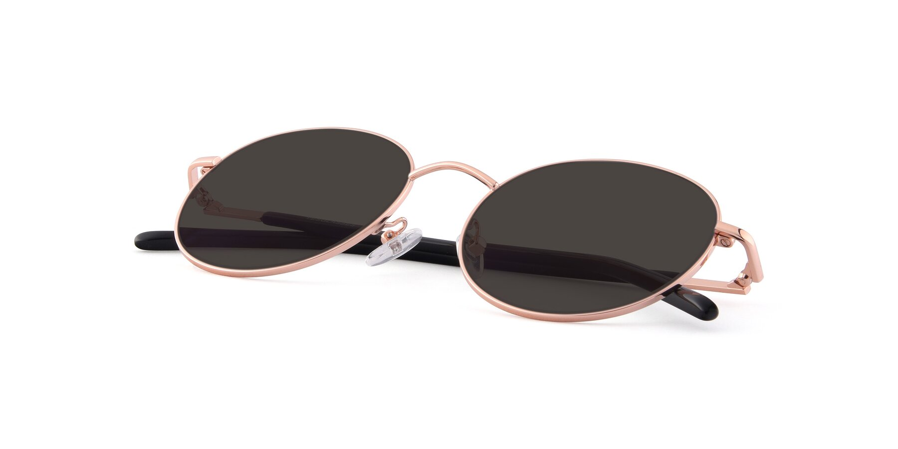 View of Cosmos in Rose Gold with Gray Tinted Lenses