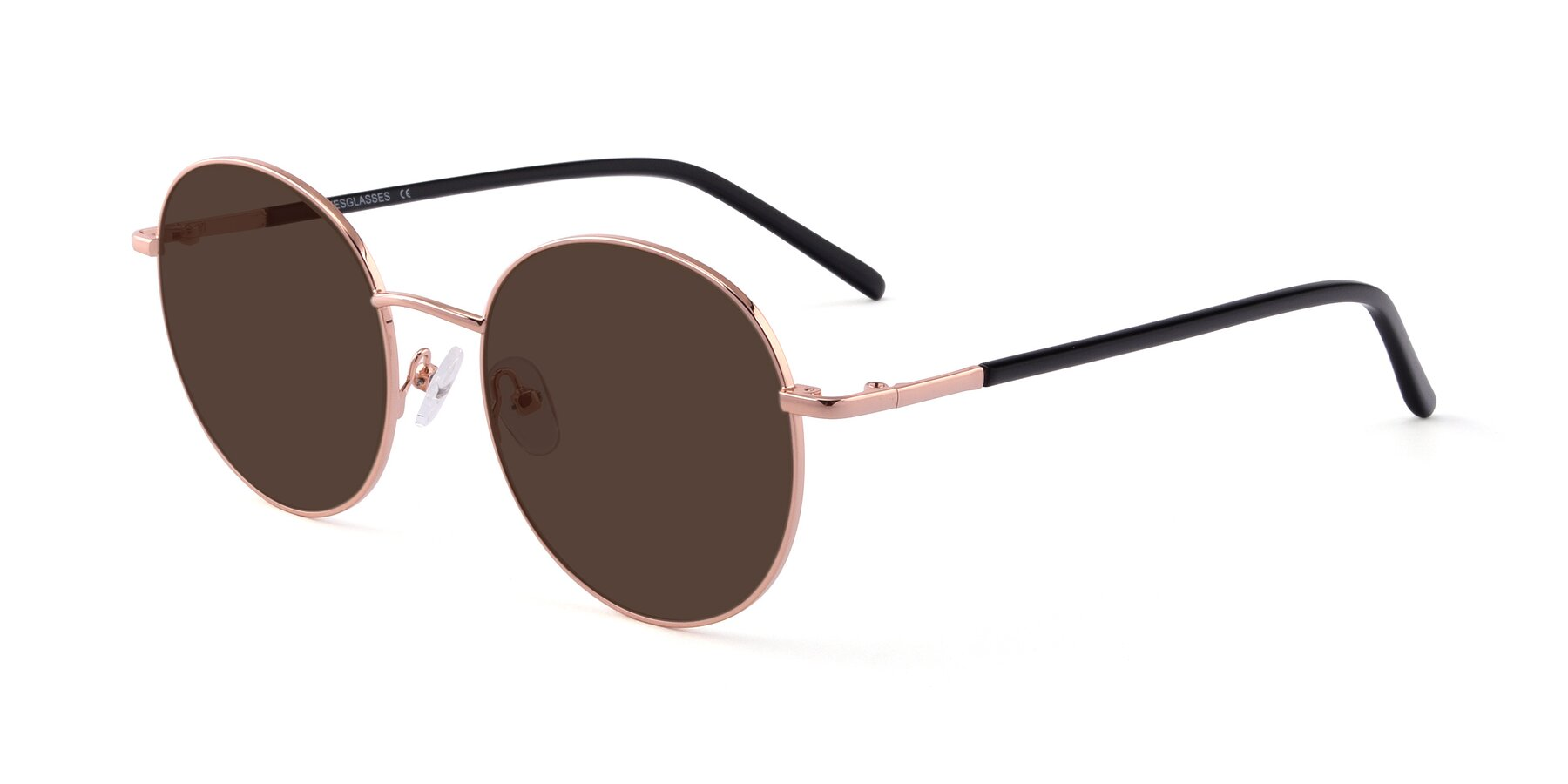 Angle of Cosmos in Rose Gold with Brown Tinted Lenses