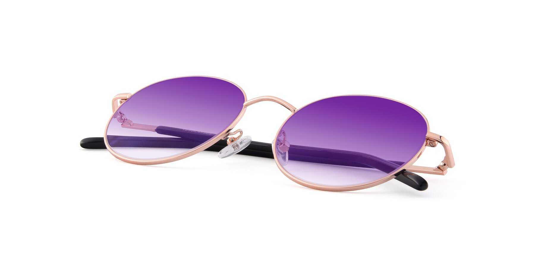 View of Cosmos in Rose Gold with Purple Gradient Lenses