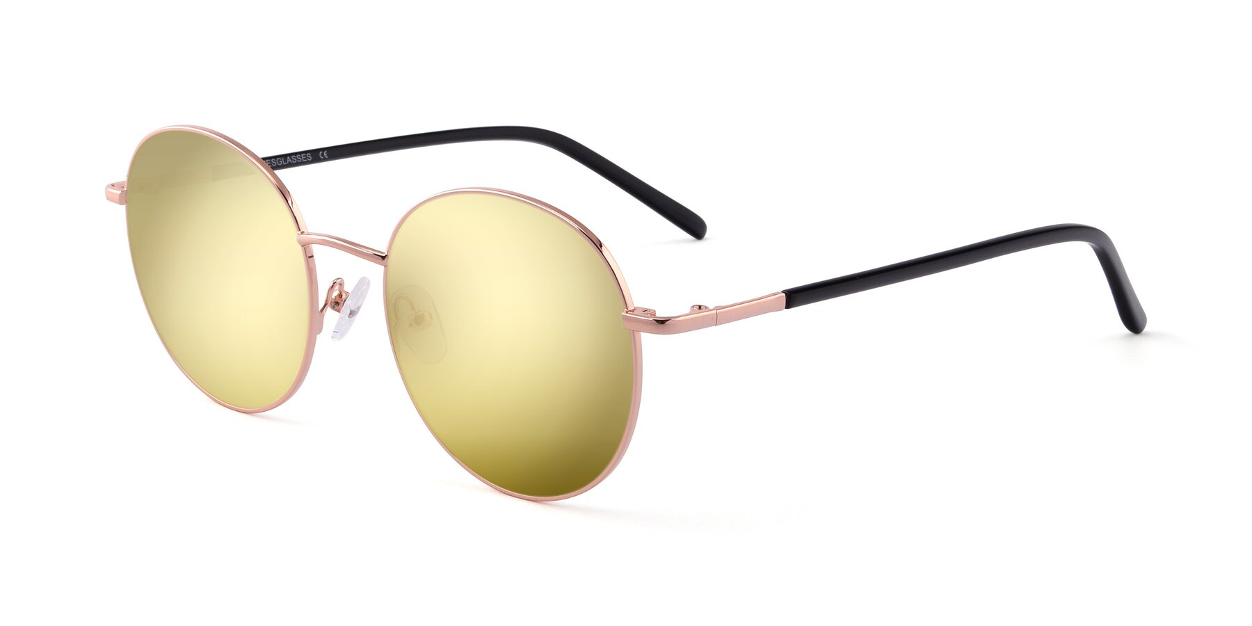 Angle of Cosmos in Rose Gold with Gold Mirrored Lenses