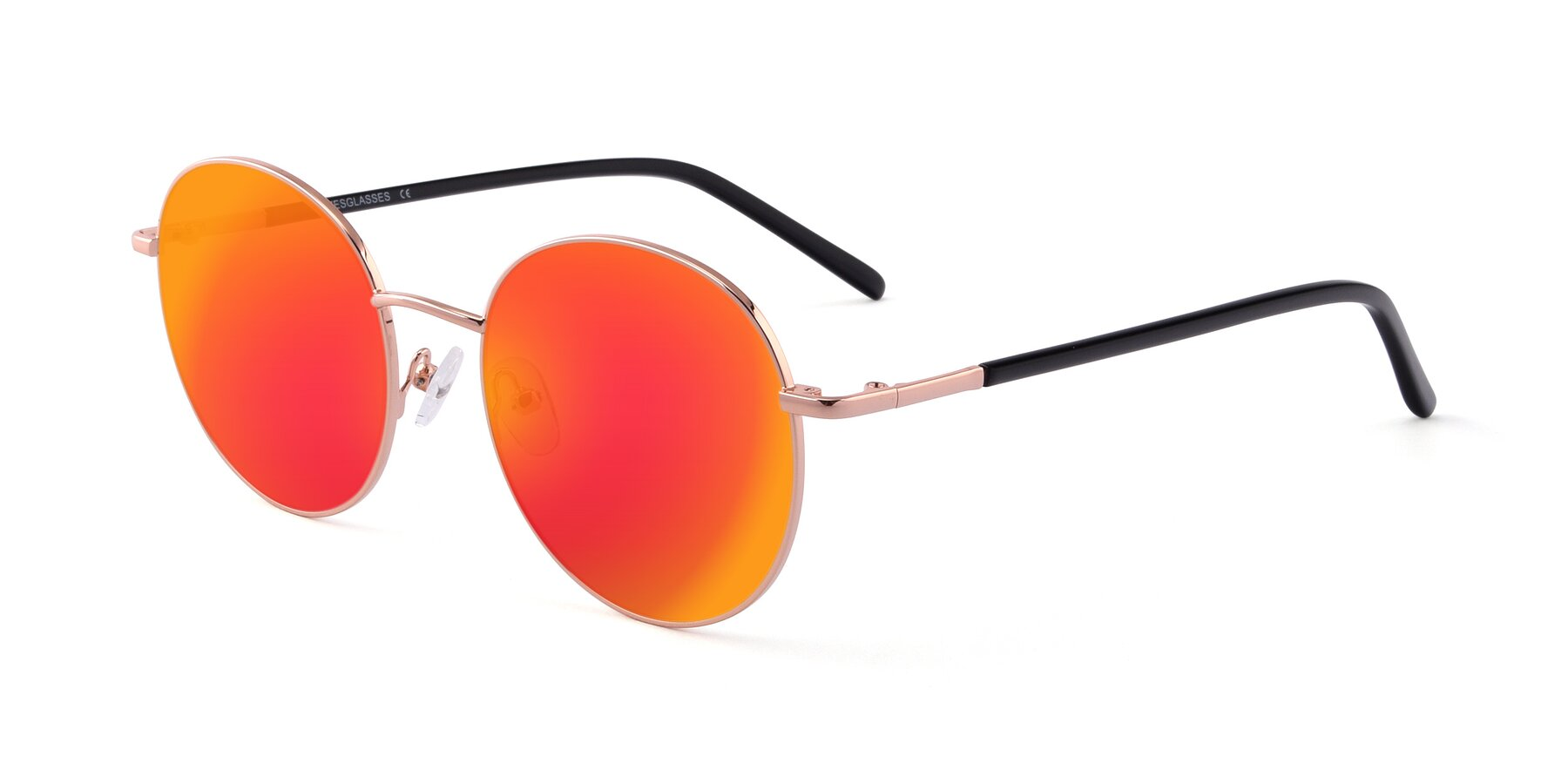 Angle of Cosmos in Rose Gold with Red Gold Mirrored Lenses