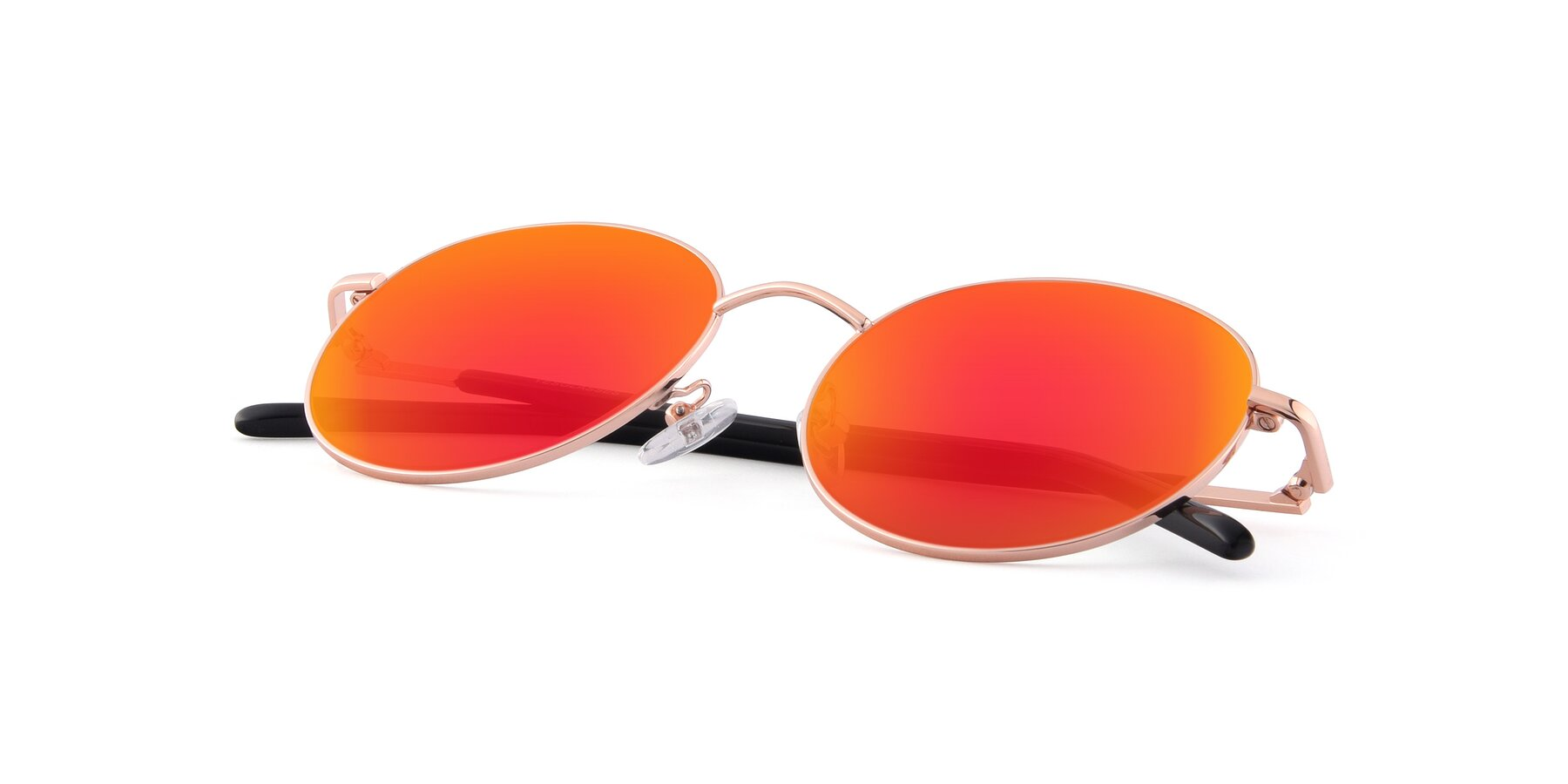 View of Cosmos in Rose Gold with Red Gold Mirrored Lenses