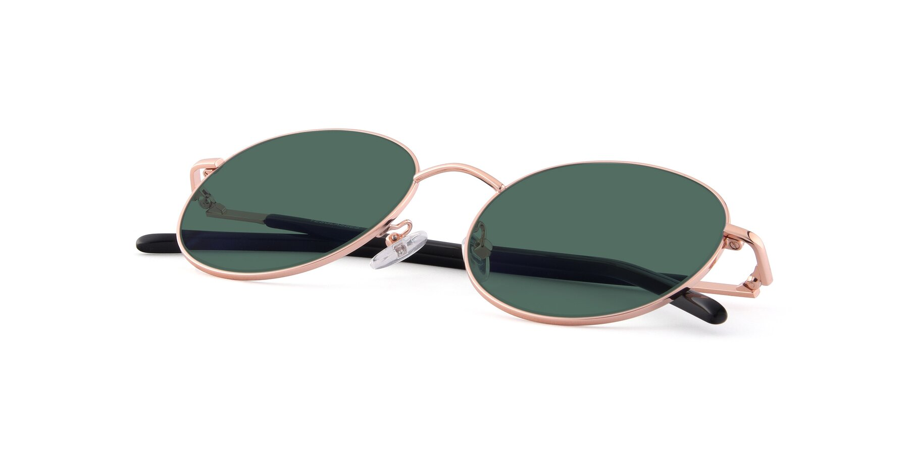 View of Cosmos in Rose Gold with Green Polarized Lenses