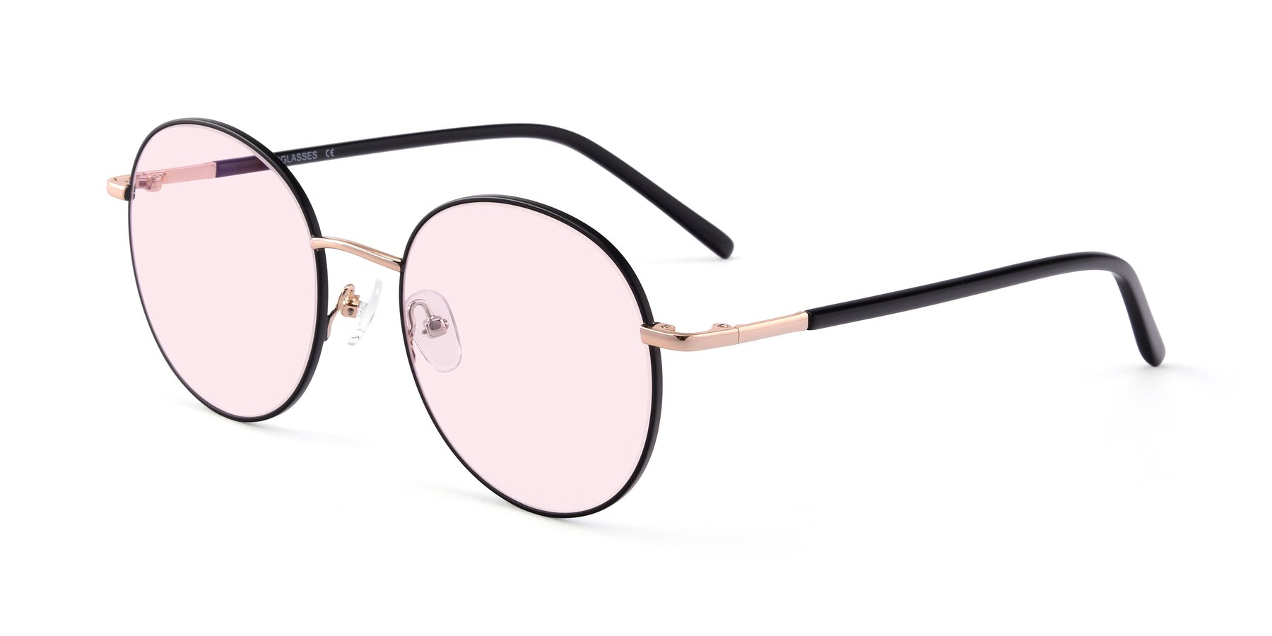 Angle of Cosmos in Black-Gold with Light Pink Tinted Lenses