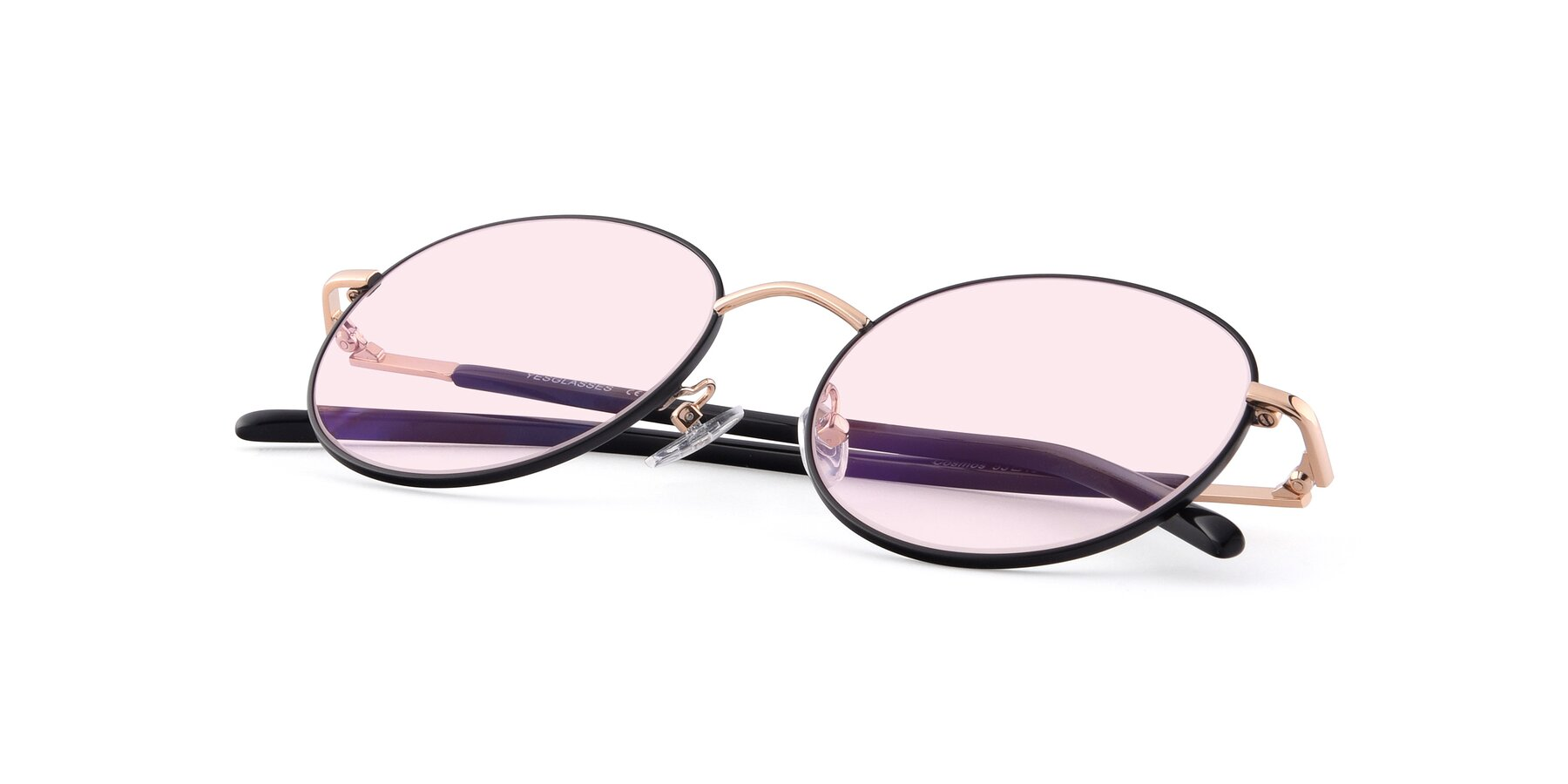 View of Cosmos in Black-Gold with Light Pink Tinted Lenses