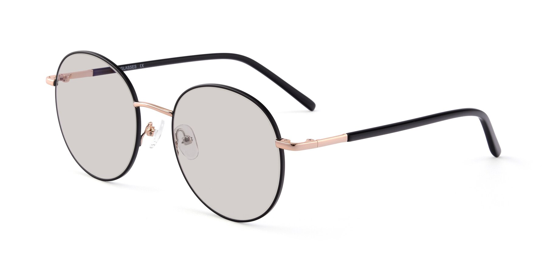 Angle of Cosmos in Black-Gold with Light Brown Tinted Lenses