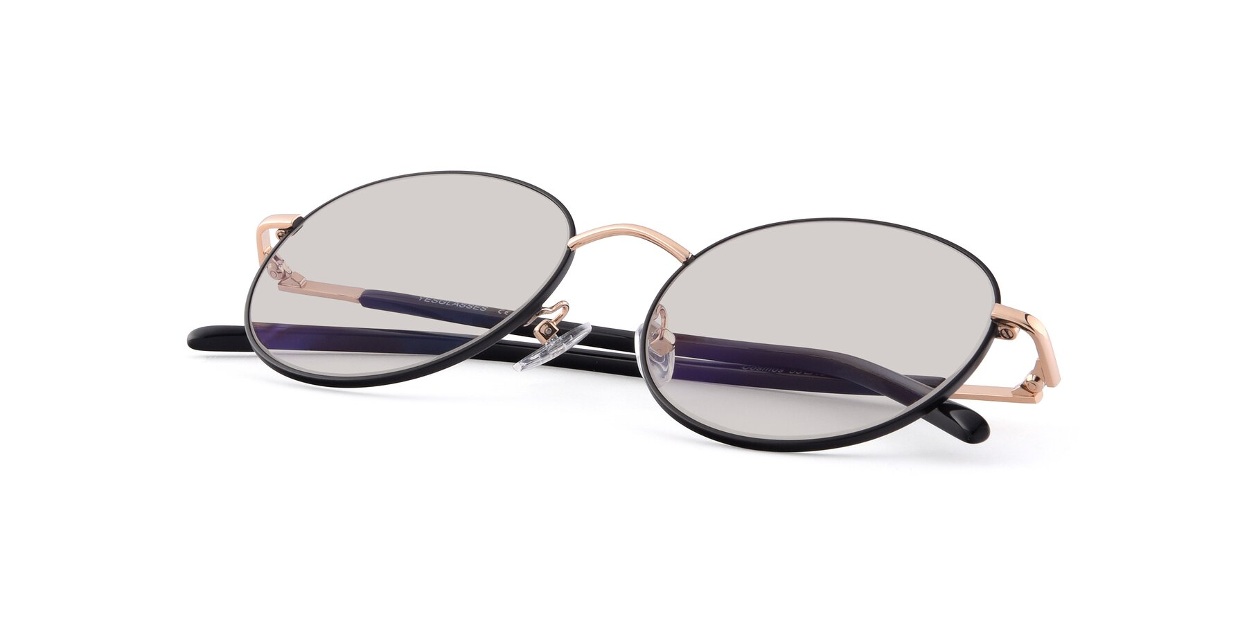 View of Cosmos in Black-Gold with Light Brown Tinted Lenses