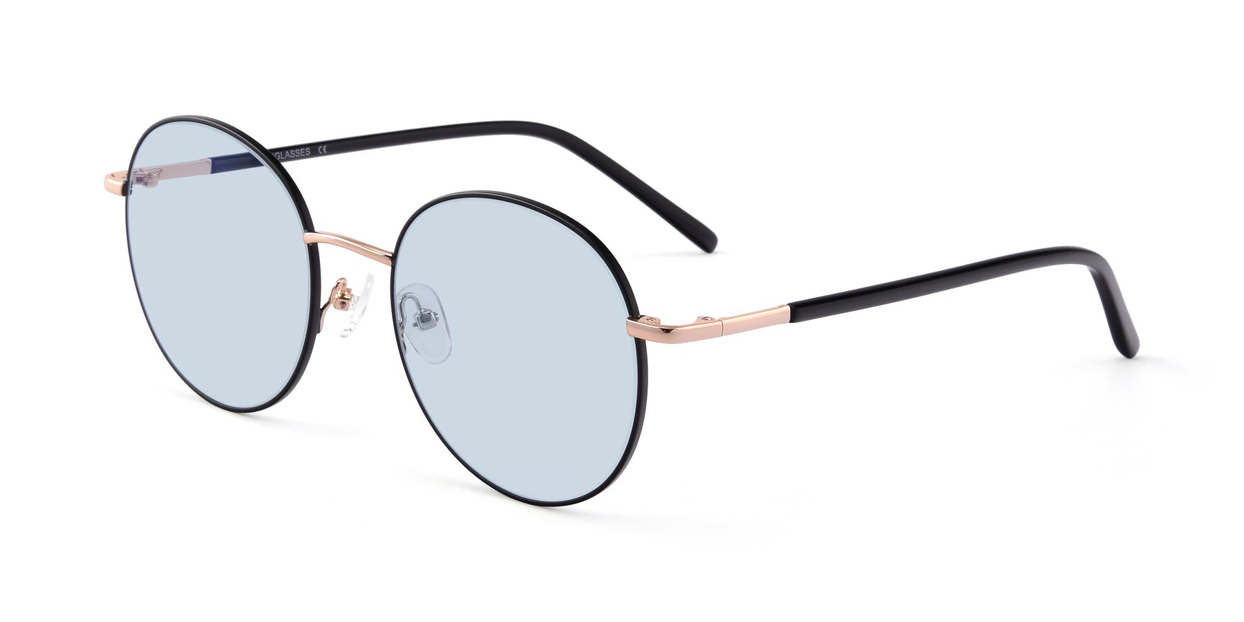 Angle of Cosmos in Black-Gold with Light Blue Tinted Lenses