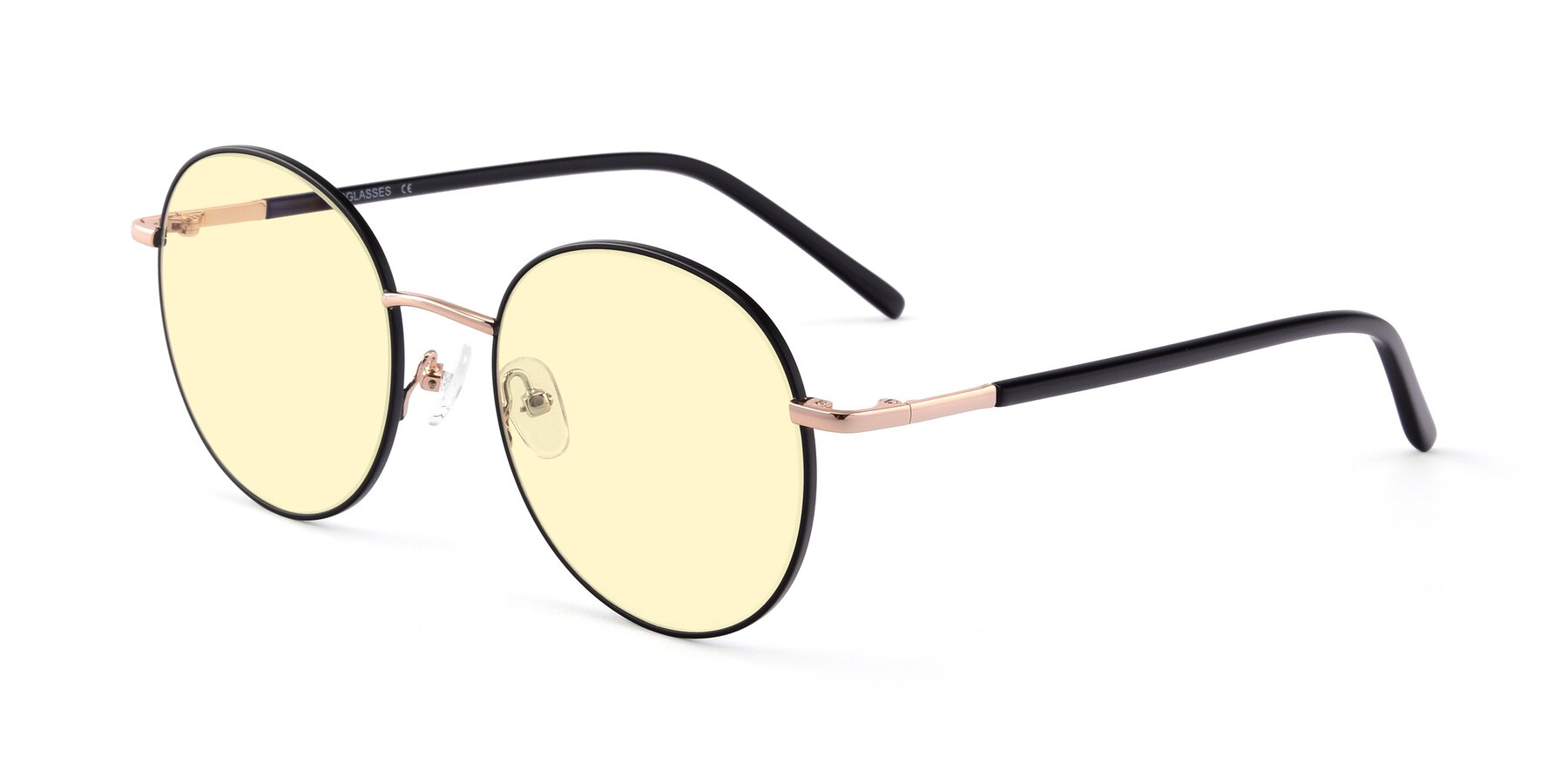 Angle of Cosmos in Black-Gold with Light Yellow Tinted Lenses