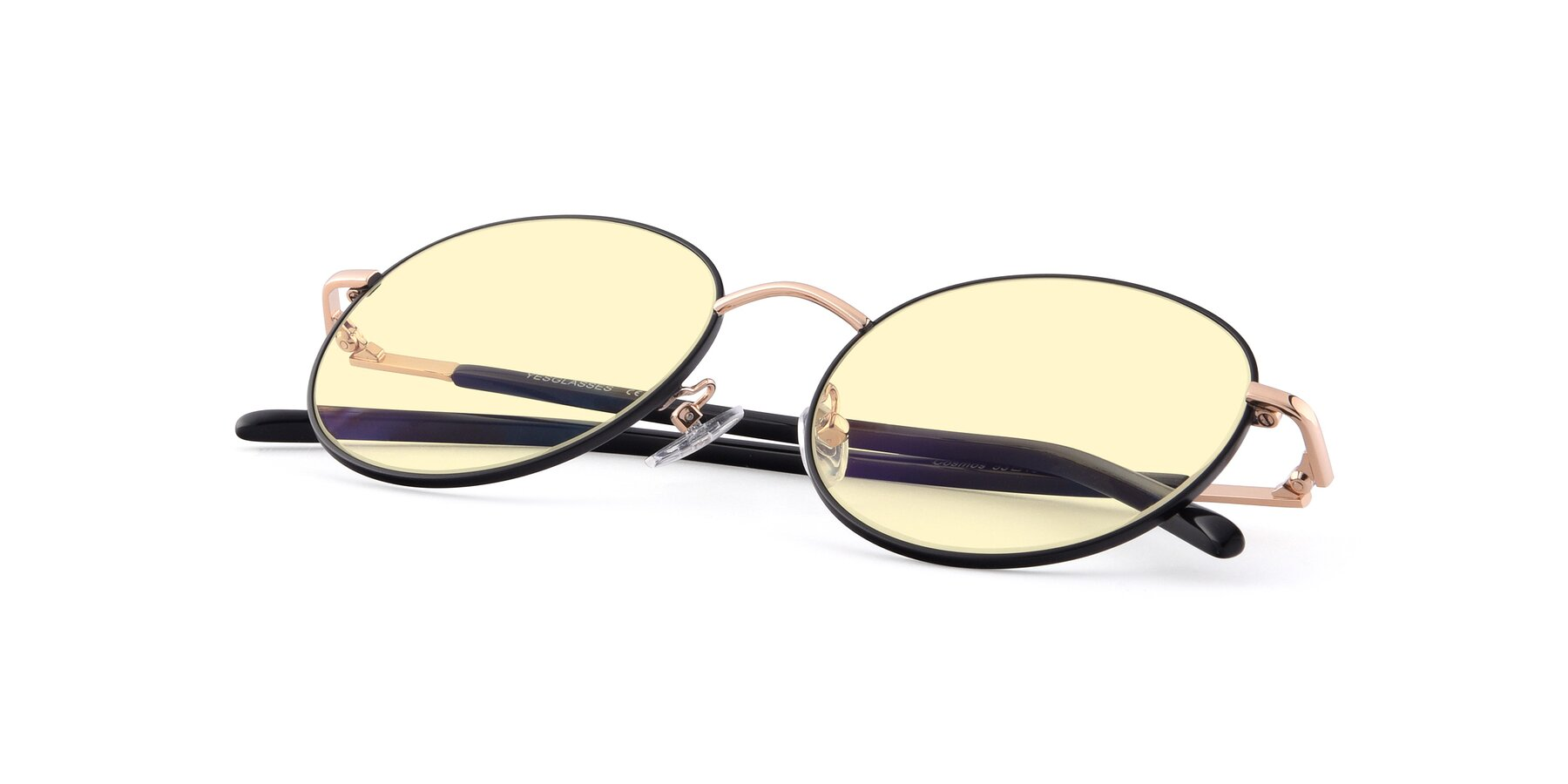 View of Cosmos in Black-Gold with Light Yellow Tinted Lenses