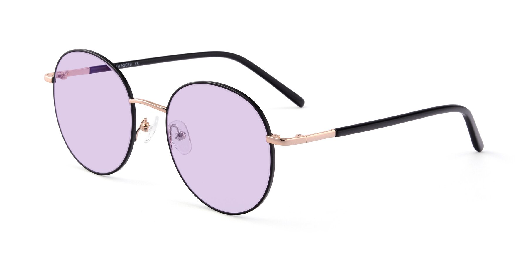 Angle of Cosmos in Black-Gold with Light Purple Tinted Lenses