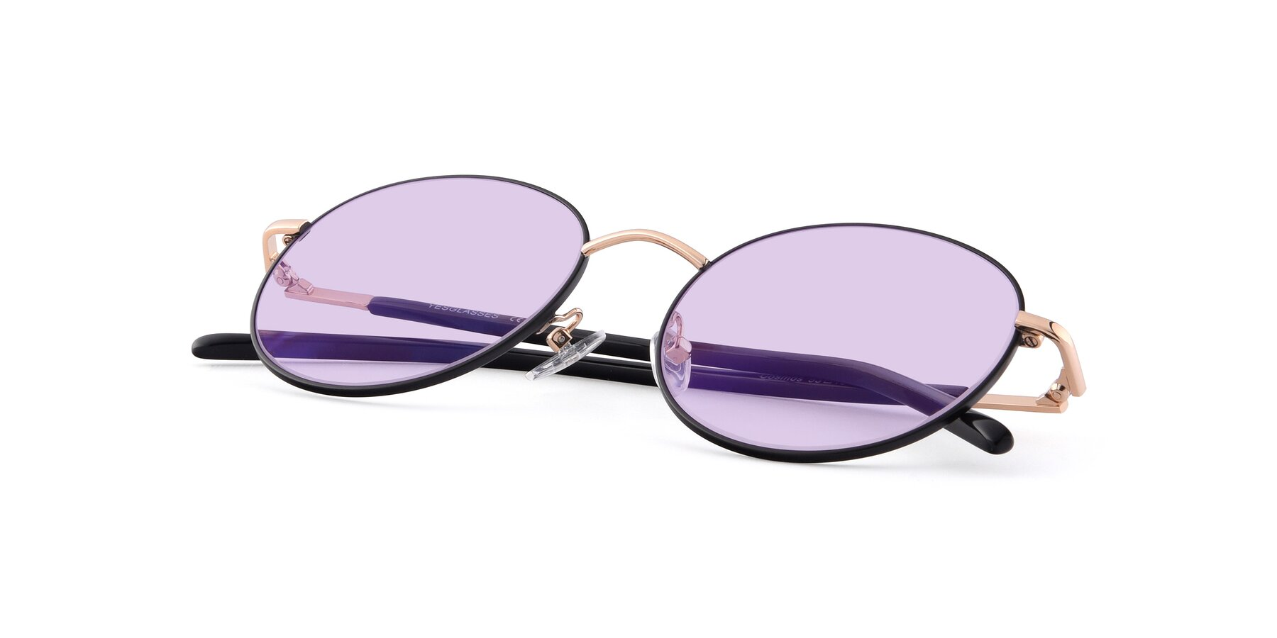 View of Cosmos in Black-Gold with Light Purple Tinted Lenses