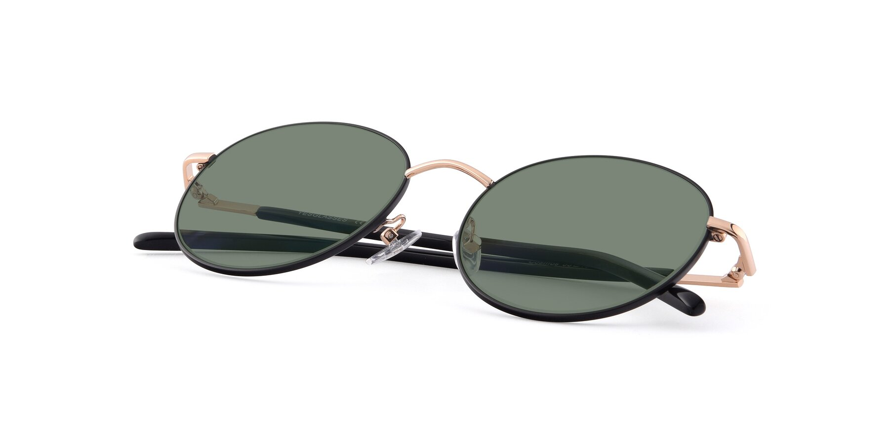 View of Cosmos in Black-Gold with Medium Green Tinted Lenses