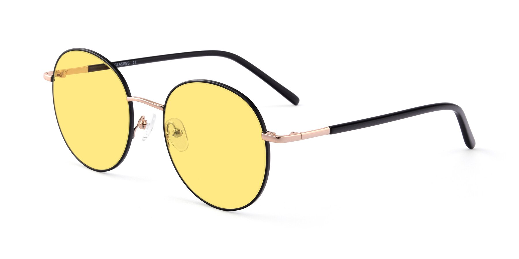 Angle of Cosmos in Black-Gold with Medium Yellow Tinted Lenses