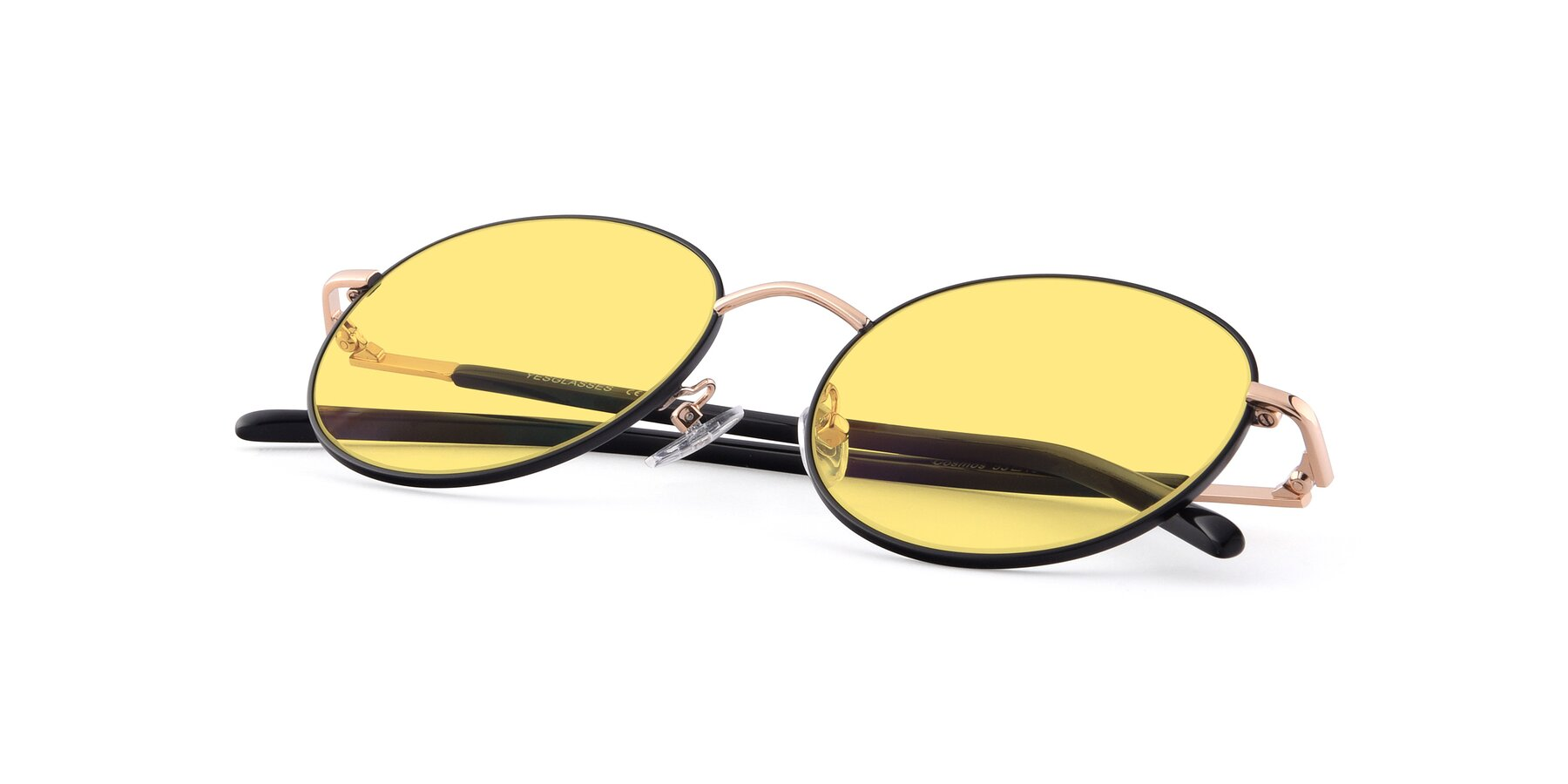 View of Cosmos in Black-Gold with Medium Yellow Tinted Lenses