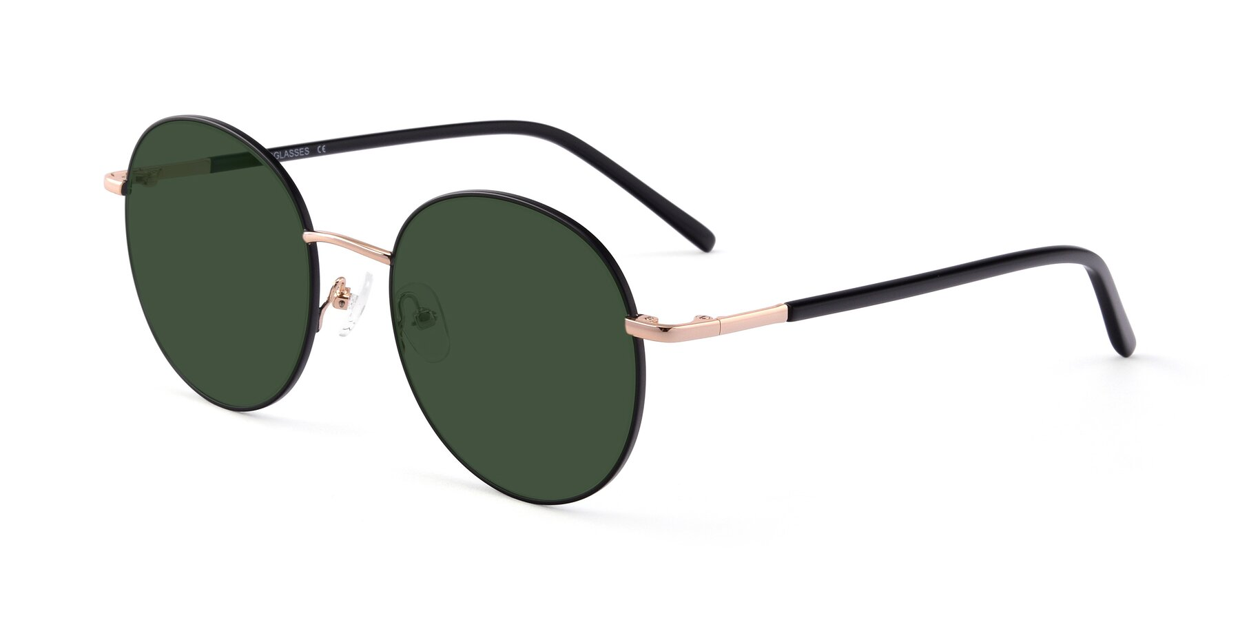 Angle of Cosmos in Black-Gold with Green Tinted Lenses