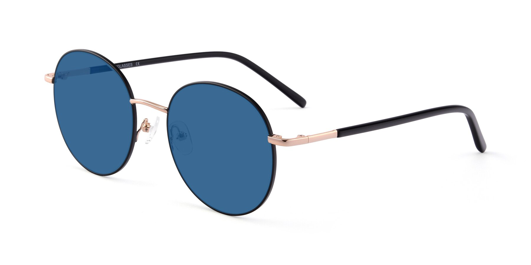 Angle of Cosmos in Black-Gold with Blue Tinted Lenses