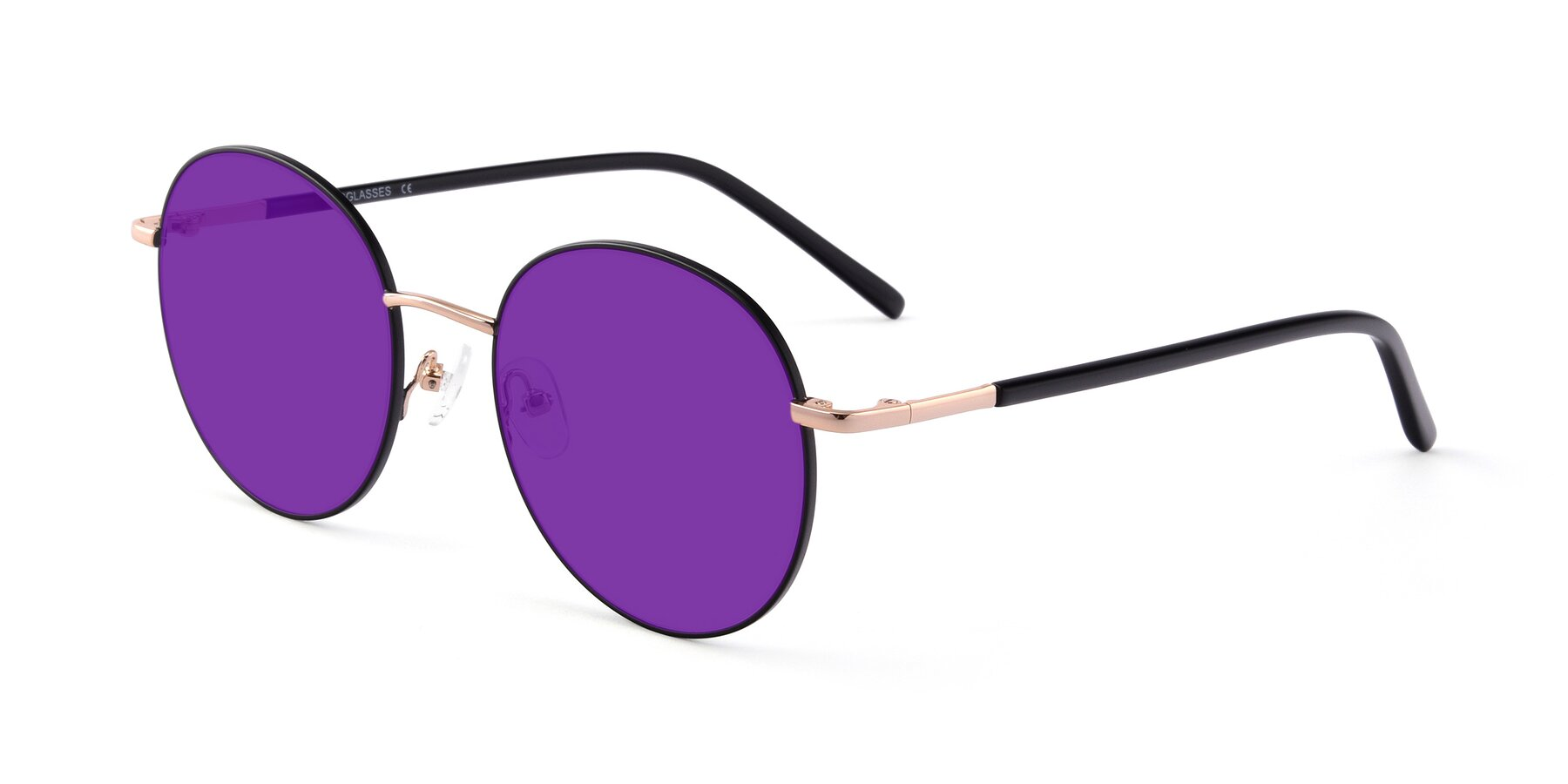 Angle of Cosmos in Black-Gold with Purple Tinted Lenses