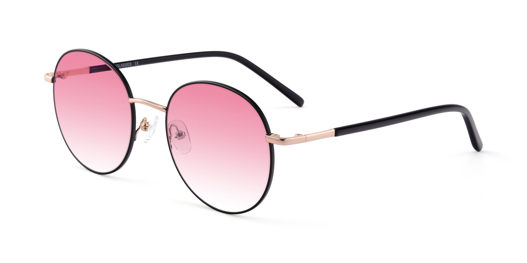 Angle of Cosmos in Black-Gold with Pink Gradient Lenses