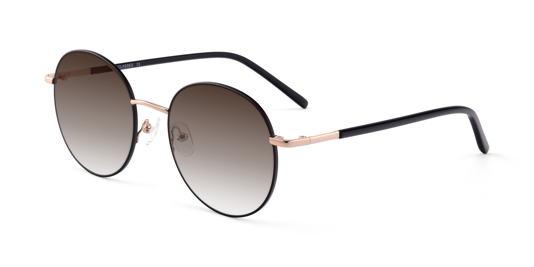 Angle of Cosmos in Black-Gold with Brown Gradient Lenses